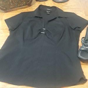 Style & Company size 8 black shirt